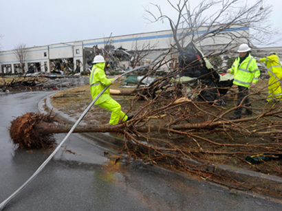 Один человек умер и неменее 20 пострадали из-за торнадо вСША