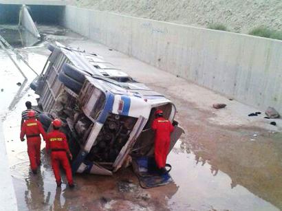 İranda avtobus aşıb: 11 ölü - Məşhəddən gəlirlərmiş