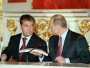 صور: بوتين ومدفيدف يدافعان عن ترشحهما  / سياسة