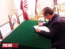 عکس:  دفتريادبود قربانیان عملیات تروریستی بیروت در سفارت ایران در باکو   / سیاست