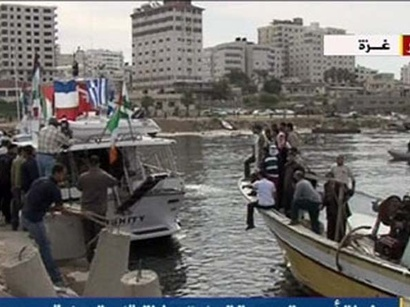 عکس: توقیف کشتی فرانسوی توسط نیروی دریایی اسرائیل / فلسطین