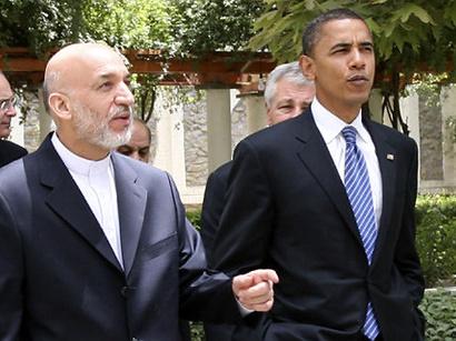 عکس: گفتگوی تلفنی حامد کرزی و بارک اوباما / افغانستان