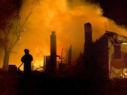 صور: حريق بناية من المباني القديمة في تفليس / سياسة