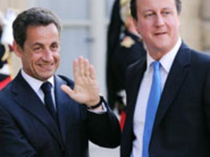 صور: كاميرون وساركوزي يجددان تصميمهما على تطبيق قرار مجلس الامن بشأن ليبيا / سياسة