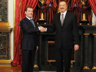 صور: الكرملين : يبحث رئيسا أذربــيجان والاتحاد الروسي تسوية نزاع قره باغ الجبلية ومسائل وضع بحر الخزر / سياسة