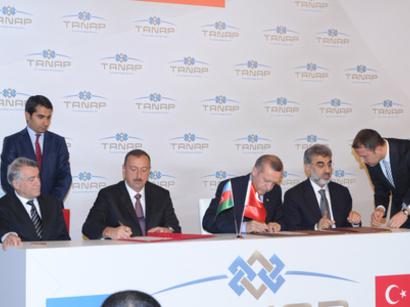 صور: الرئيس الأذربيجاني إلهام علييف ورئيس الوزراء التركي رجب طيب أردوغان يشاركان في حفل توقيع العديد من الاتفاقيات المشتركة / سياسة
