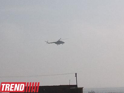 عکس: سقوط یک فروند هلی کوپتر ارتش در حومه شهر باکو (گزارش تصویری)  / حوادث