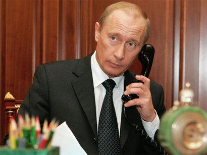 صور: الرئيس الروسي فلاديمير بوتين يهنئ الرئيس إلهام علييف / سياسة
