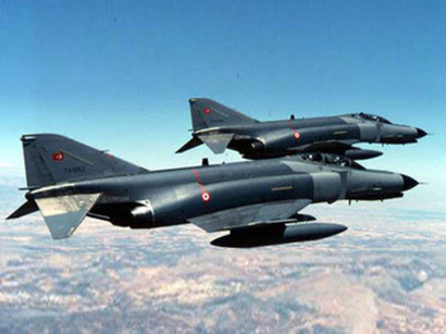 Turkish Air Force bombing PKK positions in Iraq