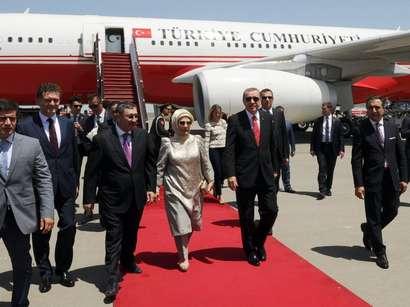 صور: الرئيس التركي رجب طيب أردوغان يصل الى أذربيجان / مجتمع