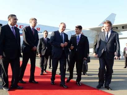 صور: الرئيس الروسي فلاديمير بوتين يصل أذربيجان للمشاركة في حفل افتتاح دورة الألعاب الأوربية الأولى  / مجتمع