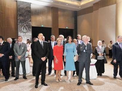 صور: حفل استقبال رسمي لأعضاء الأسرة الأولمبية بباكو / مجتمع