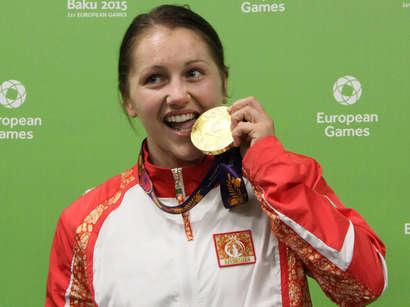 صور: المصارعة أنجيلا دوروغان تمنح أذربيجان ثامن ميدالية ذهبية في الالعاب الاوروبية الاولى  / مجتمع