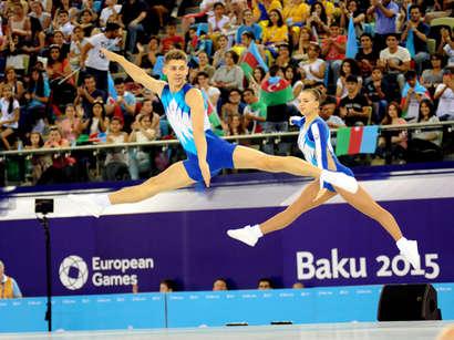 عکس: تصاویری از ژیمناستها در روز ششم بازیهای اروپایی «باکو 2015»  / آذربایجان