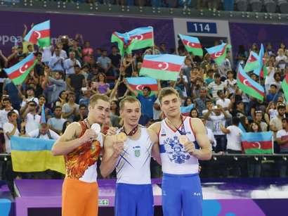 عکس: شمار مدالهای آذربایجان در بازیهای اروپایی به 41 رسید / آذربایجان