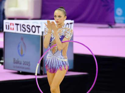 عکس: ژیمناست زن آذربایجانی به دور نهایی بازیهای اروپایی راه پیدا کرد (تصویری) / آذربایجان