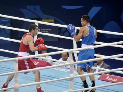 عکس: بوکس بازان آذربایجان در نیمه نهایی بازیهای اروپایی / آذربایجان