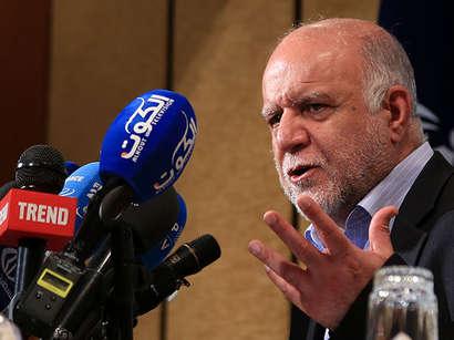 عکس: شگفتی وزیر نفت ایران از افت قیمت نفت بعد از تمدید کاهش تولید اوپک / ایران