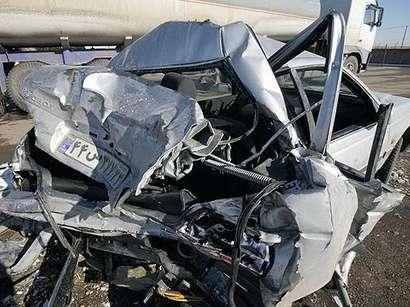 عکس: تصادف در خوزستان ایران  با 5 کشته و یک زخمی   / حوادث