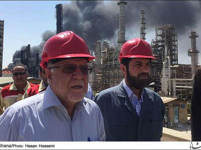 عکس: ادامه آتش سوزی در پتروشیمی بوعلی / ایران