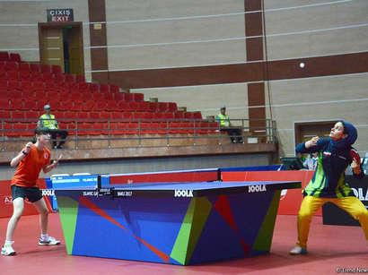 عکس: تنیس بازی زنان ایرانی در مسابقات باکو (تصویری) / تصویری