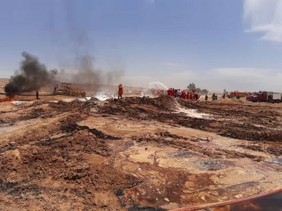 عکس: آتش سوزی در خطوط لوله نفت و گاز امیدیه کاملا مهار شد / انرژی