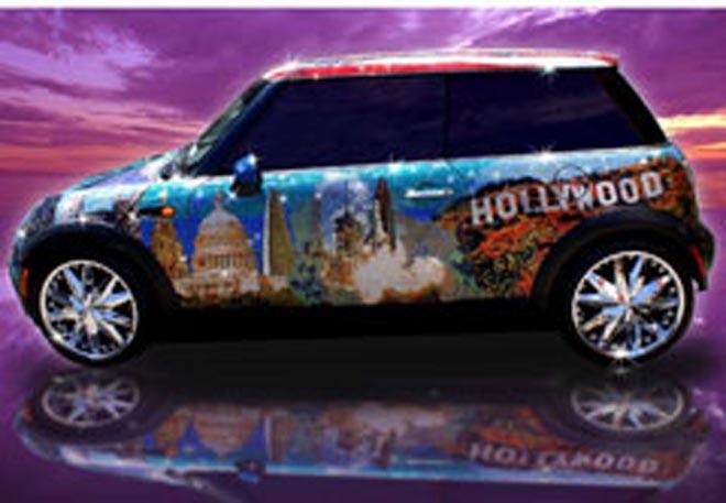 Mini Cooper украсили миллионом кристаллов Swarovski