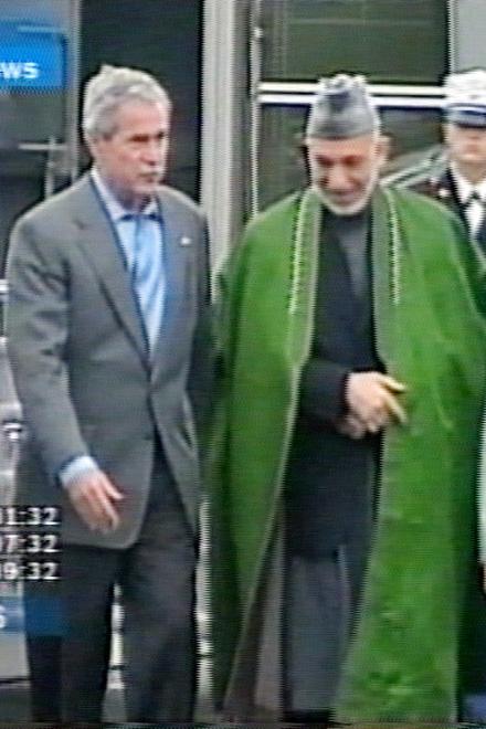 Джордж Буш и Хамид Карзай обсудят будущее Афганистана (видео)