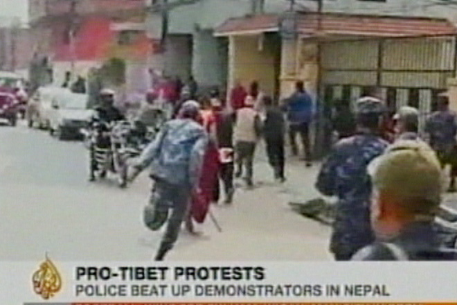 Dozens arrested during anti-Chinese demonstrations in Kathmandu