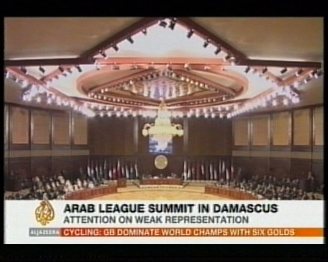 Arab summit begins in Damascus with Lebanon, nine others absent (video)