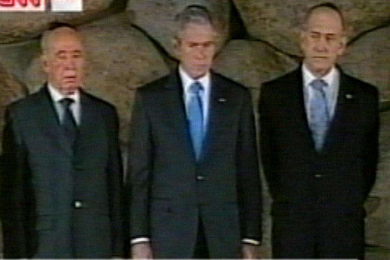 Bush visits   Israel's Yad Vashem Holocaust memorial   (video)