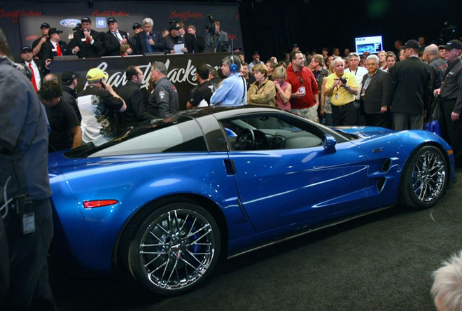 First Corvette ZR1 Auctions for Cool Million Red hot Blue Devil