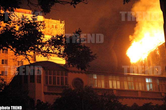 Fire in  Multi-storey  Building in   Baku