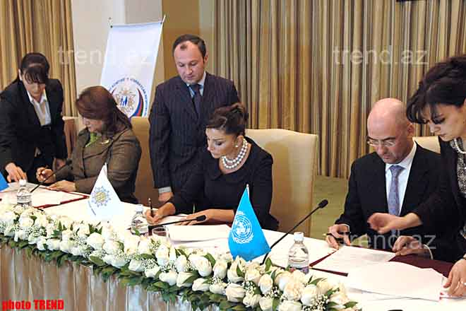 Heydar Aliyev Foundation to jointly with UNPF Carry Out a Project of Fight against Woman Violence