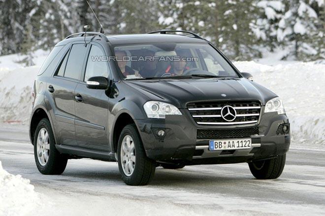 Mercedes M-Class Facelift Latest Spy Photos