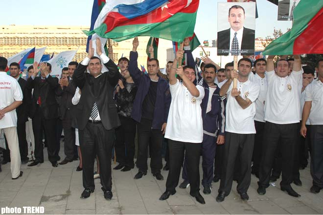 Youth of Azerbaijan held meeting on 14 October