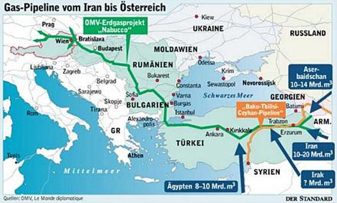 European Nabucco gas pipeline ...