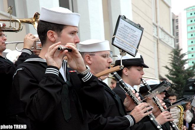 Оркестр Военно-морских сил США дал концерт