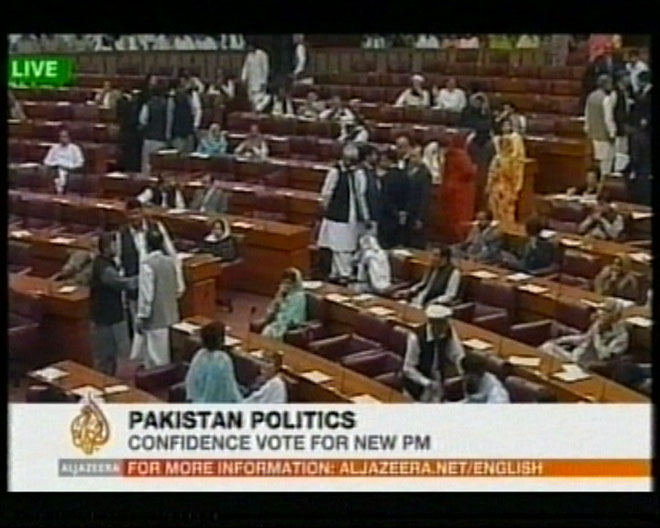 Pakistani parliament to hold confidence vote on new prime minister (video)