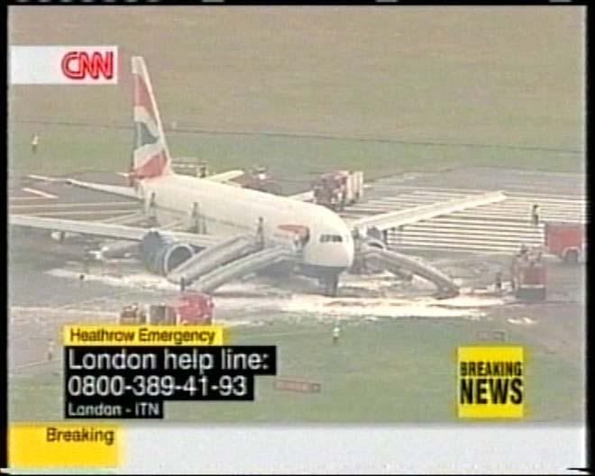 BA plane in emergency landing at Heathrow - three injured