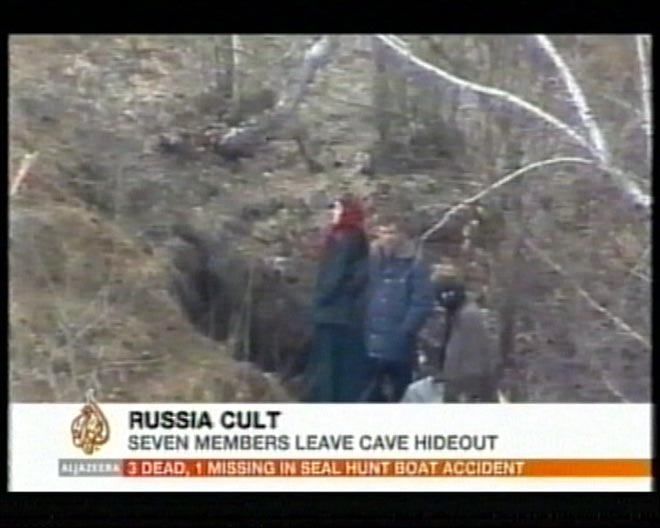 Seven leave cult's cave in Russia (video)