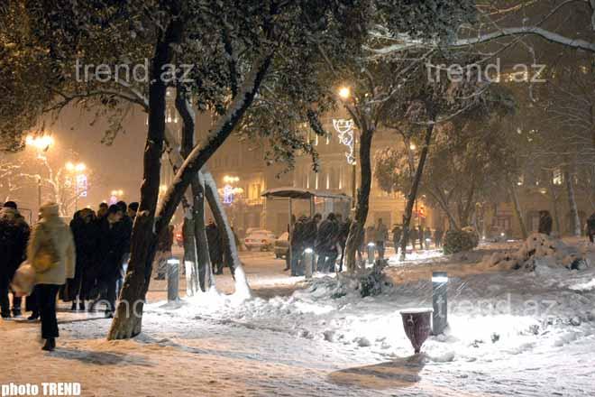 Baku in Snow – Photo-session