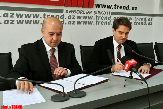 Azerbaijani TREND News Agency and Russian RIA Novosti sign Partnership Agreement (video)