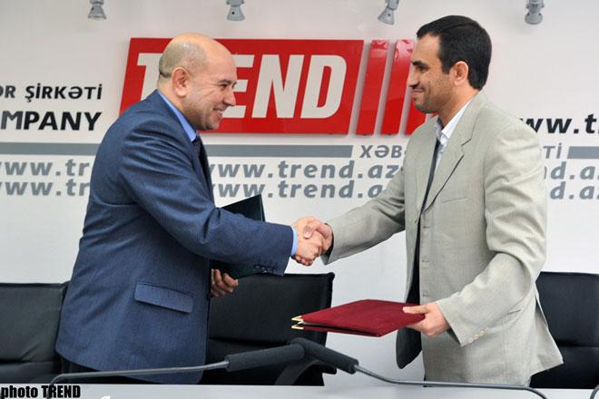 Азербайджанское информационное агентство TREND и Иранское агентство Mehr подписали Партнерское соглашение