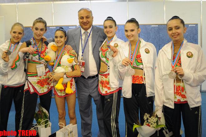 Сборная Азербайджана заняла второе место на Чемпионате Европы по художественной гимнастике среди юниоров (Фотосессия)