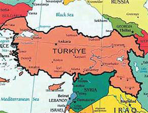 Turkey Publishes Map Describing Lands Of Azerbaijan Iraq And - Map of syria and turkey