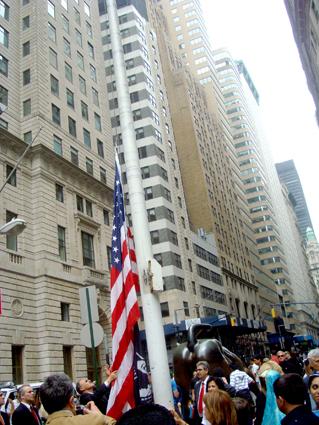 На Уолл-стрит подняли азербайджанский флаг (фотосессия)