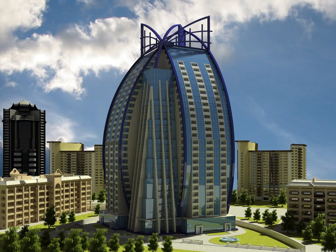 Shopping center under construction in Baku  (PHOTO)