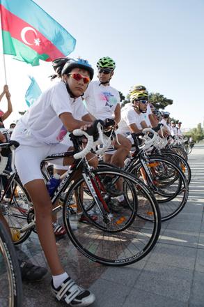 Azərbaycan-Avropa velosiped yürüşü başlayıb (FOTO)