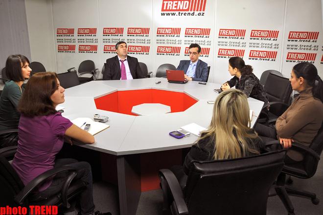 """Российское информационно-аналитическое агентство """"Вестник Кавказа"""" и АМИ Trend подписали соглашение о партнерстве (ФОТО)"""